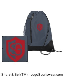 Augusta Tres Drawstring Backpack Design Zoom
